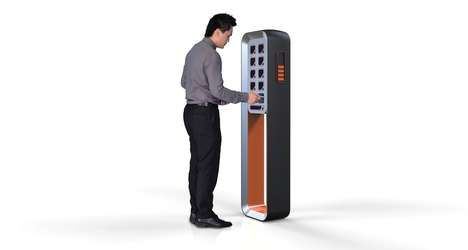 Cell-Charging Lockers - The C-Station Enables the Public to Boost Phone Batteries Securely