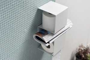The InTeam Toilet Paper Holder Stashes TP and Reading Materials