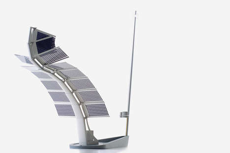 Sail-Like Weather Stations - Design by Nature Interprets the Weather and Generates Energy