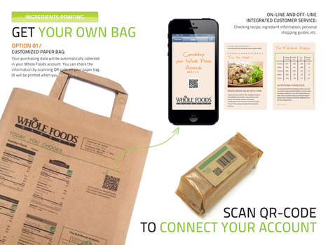 Custom-Designed Shopping Bags - Choose Your Package Can Be Printed with Ads or Nutritional Info