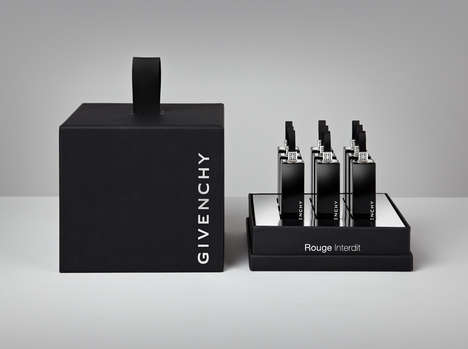 Couture Lipstick Branding - Givenchy's Lipstick Tube Design Introduces a New Symbol for the Brand