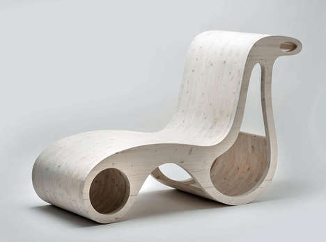Sinuous Wooden Seating - X2 By Giorgio Caporaso Boasts a Sustainable Organic Silhouette