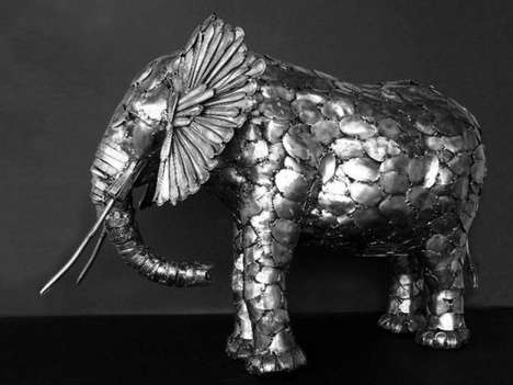 Animal Cutlery Sculptures - Artist Gary Hovey Creates Wildlife Out of Spoons and Forks