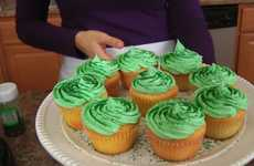 Shamrock Milkshake Cupcake Recipes - These St.Patrick's Day Cupcakes are a Perfect Festive Treat