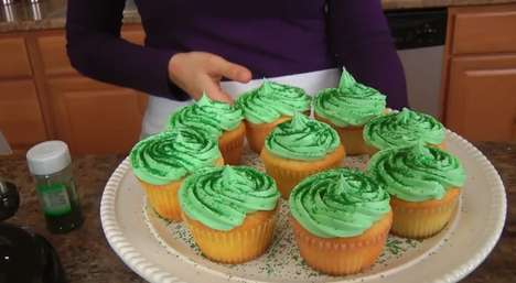 Shamrock Milkshake Cupcake Recipes - These St.Patrick