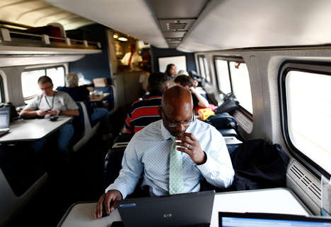 Live-In Train Residences - The Amtrak Residency Program Will Provide Mobile Shelter for Writers