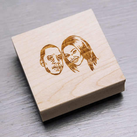 Celebrity Portrait Stamps - Stamp Yo Face Makes Hand-Drawn Stamps of Your Facial Appearance