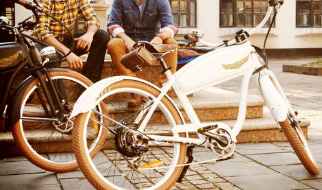Retro Motorcycle Bike Hybrids - Ariel Rider Ebikes Bring a New Life Boost to Retro Style Bicycles