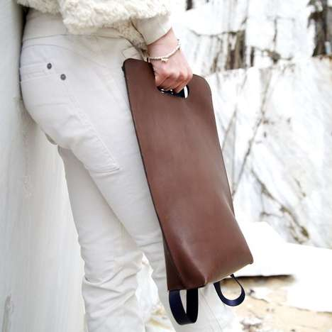 Miniamalist Leather Backpacks - The Simple Be Leather Backpack Looks Like a Classy Clutch