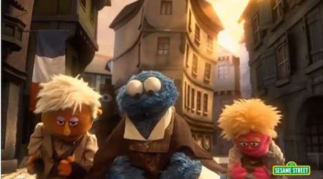 Puppet Movie Spoofs - Les Mousserables Uses Sesame Street Characters for a Funny Spoof