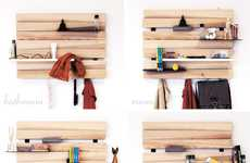 Abstract Bark Shelving