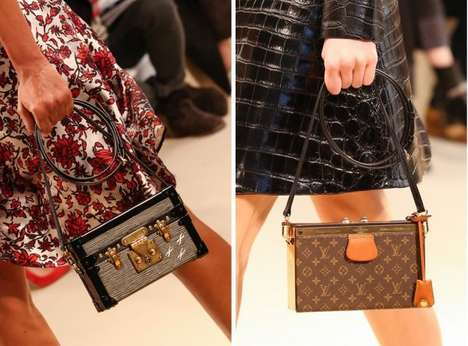 Miniature Trunk Purses - The Louis Vuitton Petite Malle Bag Upgrades the Classic Travel Tote