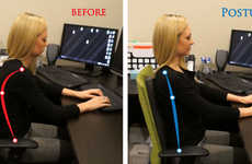 Posture-Perfecting Back Supports - PostureME Helps You Maintain Perfect Posture While Sitting