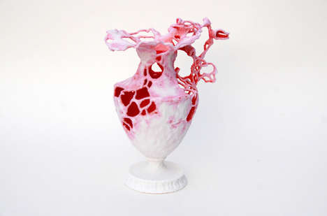 Coral Reef-Rendering Vases - Eragatory Has Developed a Customizable 3D-Printed Object