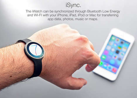 Hi-Tech Tangible Accessories - iWatch by Tomas Moyano Interacts Autonomously in Sync with Your Body