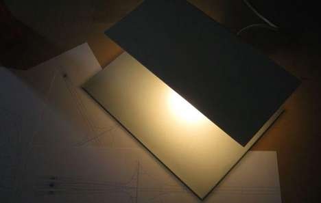 Planar Table Illuminators - The Quadra Lamp Comprises a Pair of Parallel Panels as Base and Shade