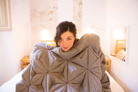 Cozy Origami Blankets - The 'Bloom' Cashmere Wool Blankets are Soft, Snug and Pleasing