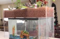 Feces-Recycling Aquariums