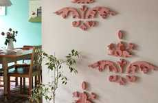 Dear Human 3D Wallpaper is Beautifully Made of Modelled Ceramic Material