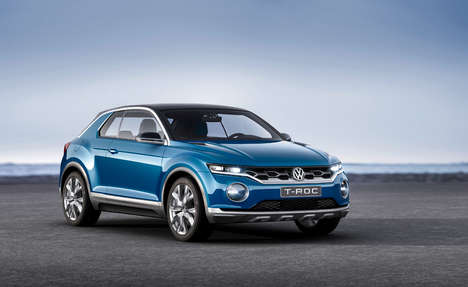 Removable Roof SUVs - The Volkswagen T-ROC Vehicle is Both Versatile and Durable