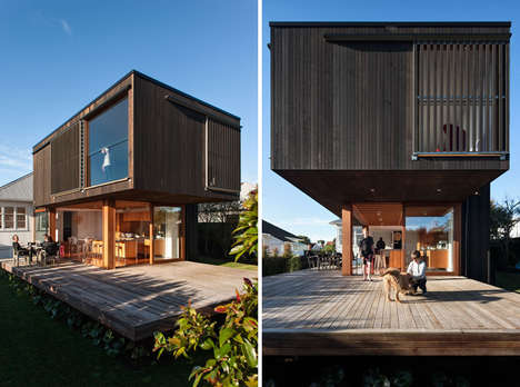Stacked Box Abodes - Crosson Clarke Carnachan Architects Designs a House with Rectangular Themes