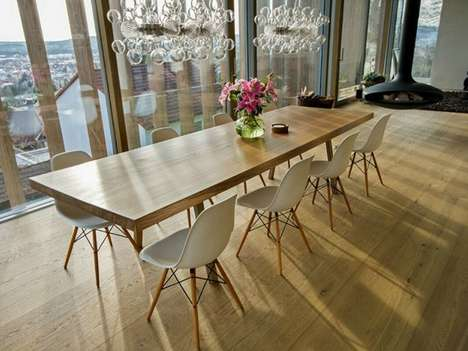 Ancient Oak Furniture - Table 0007 by Braun & Braun is Carved Out of a 350 Year Old Tree Trunk