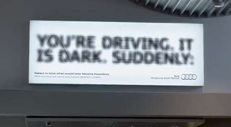 Deceptive Perception Campaigns - The Audi Ad for Pre-Sense Plus Shows Lack of Vision When Driving