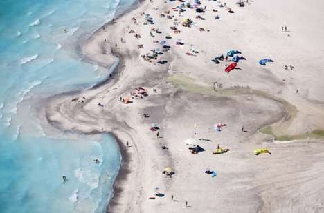 Aerial Beach Photography - Alex Mac Lean Captures Colorful Diorama-Like Shots of Sand and Surf