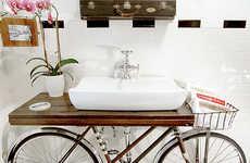 Bike-Infused Bathrooms - Designer  Benjamin Bullins is Behind This Bicycle Bathroom Sink
