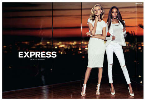 Chic Streetwise Summer Lookbooks - Jourdan Dunn Stuns in the Express Spring/Summer 2014 Ad Campaign