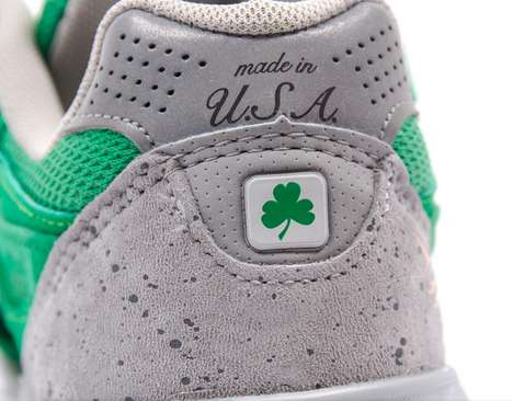 Irish Mint Green Sneakers - The New Balance 990 St. Patrick