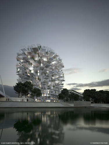 Foliage-Like Apartment Buildings - The White Tree by Sou Fujimoto Boasts a Modern Organic Shape