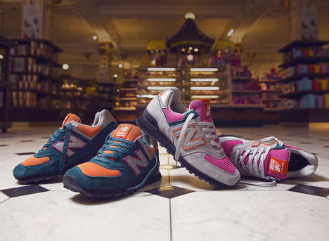 Department Store Sneaker Collaborations - New Balance and Harrods Team Up to Create the New USA 574s