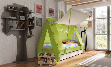 Tent-Like Toddler Beds - A Children