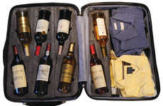 Trackable Wine Suitcases - This Wine Suitcase can Safely Hold 12 Bottles of Wine and is Trackable