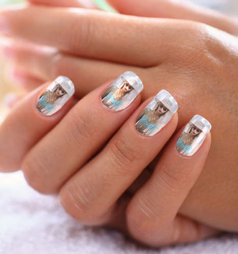 Photographic Nail Stickers - NailSnaps Turns Your Fingers into a Gallery