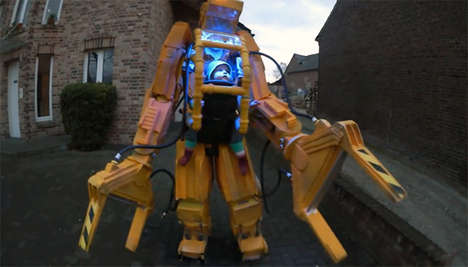 Massive Animatronic Baby Carriers - The Caterpillar P-5000 is a Heavy Duty Robotic Baby Carrier