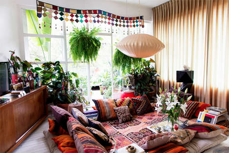 Eclectic Mexican Apartments - This South American Residence Boasts a Bohemian Design Aesthetic