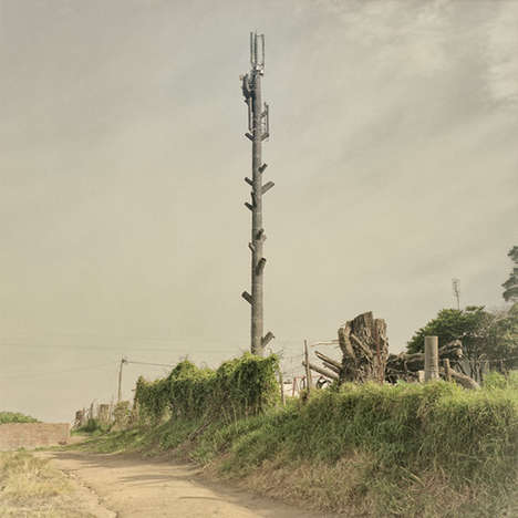 Disguised Tower Photography - Dillon Marsh's Latest Series Explores Invasive Technology