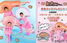 Inflatable Fish Filet Headpieces - Sanrio's Quirky Costumes Help to Introduce the Kirimi Character