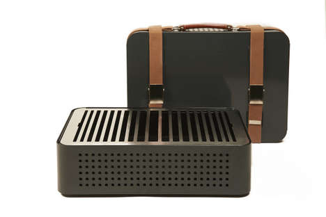 Travel BBQ Grills - This Portable BBQ Grill Adopts a Playful Suitcase Shape