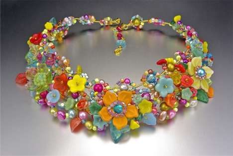 30 Flashy Floral Accessories - From Blooming Leather Bracelets to Fairy Tale Beadwork