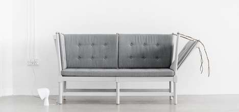 Contemporary Hybrid Couches - The Spoke Back Sofa Brings Quirky Antique Tastes to a Modern Market