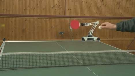 Robotic Ping Pong Paddles - Ulf Hoffmann Uses Cameras and Tech to Play Table Tennis with a Robot