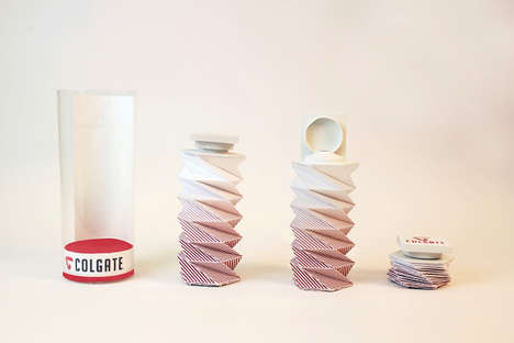 Accordion Toothpaste Branding - Colgate Redesign Packaging Makes Squeezing Out the Last Bit Easy
