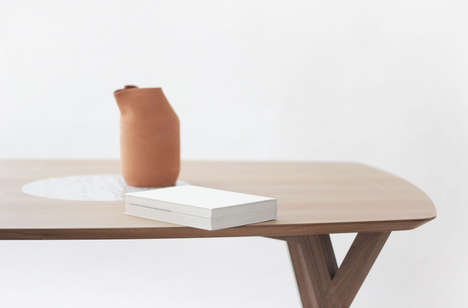 Stone-Centered Tables - The Trees & Rocks Table Unites Two Natural Materials in a Modern Fashion