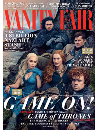 Fantasy TV Show Editorials - The Vanity Fair Game of Thrones Issue Captures