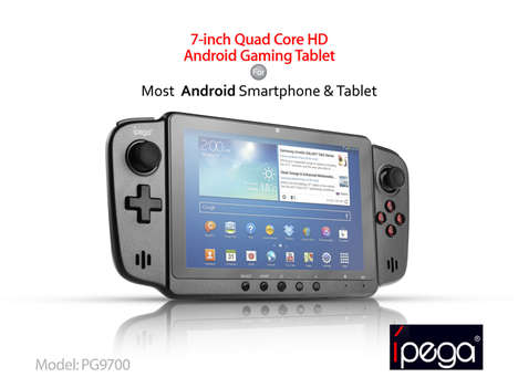 Versatile Handheld Gaming Consoles - iPEGA Android Gaming Tablet Brings Console Games to One Device