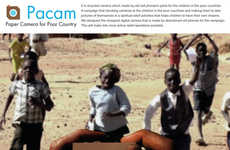 Recycled Cell Phone Cameras - The Pacam Paper Camera Brings Photography to Impoverished Children