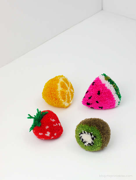 DIY Fruit Pom Poms - Mr. Printables